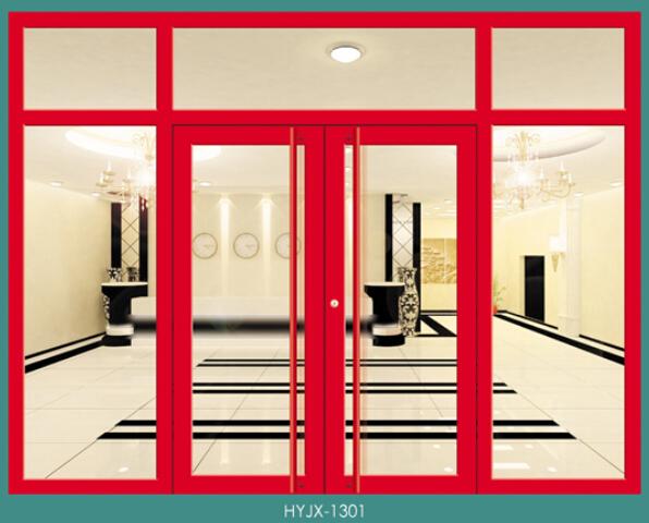 单门式钢制自由门(红色)